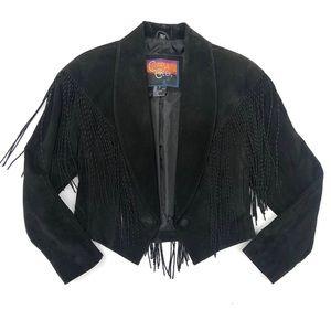 Cripple Creek Vintage Leather Tassel Jacket